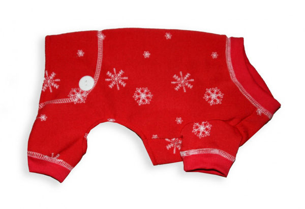 Picture of Snowflake Jumpers/ LongJohns - Red.