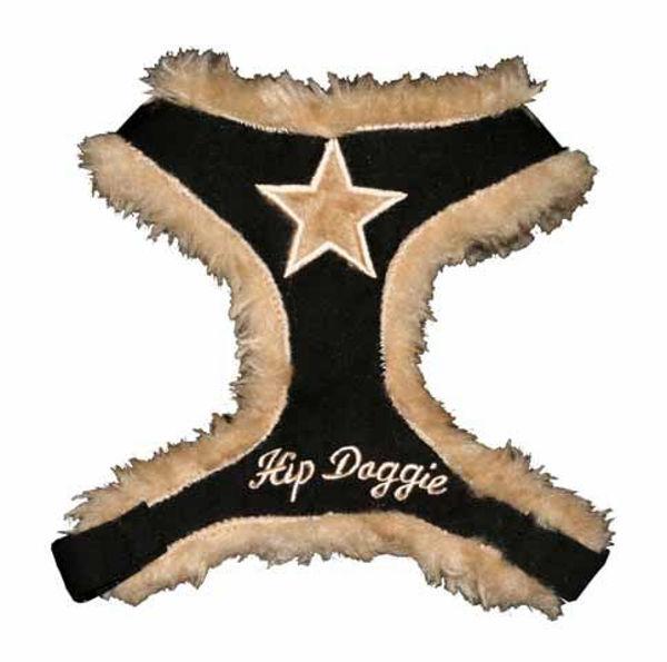 Picture of Black Fur Star Harness Vest.