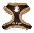 Picture of Brown Fur Skull Harness Vest.