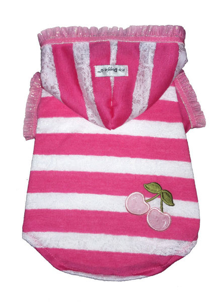 Picture of Pink Stripe Cherry Hoodie.