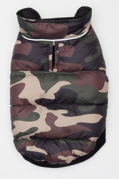 Picture of Flex-Fit Reversible Puffer Vest - Black/Camo.