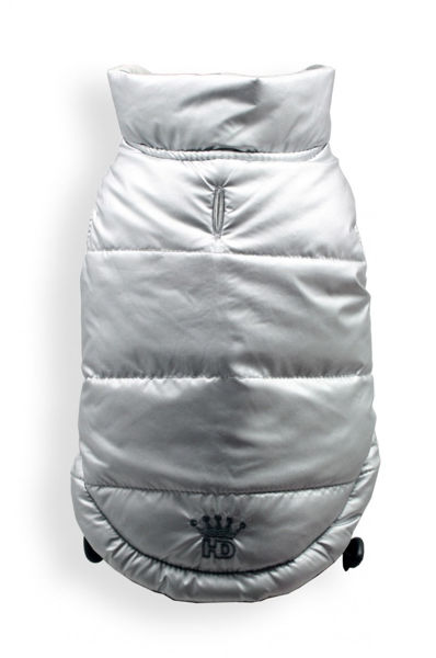 Picture of Reversible Puffer Vest - Silver Argyle.