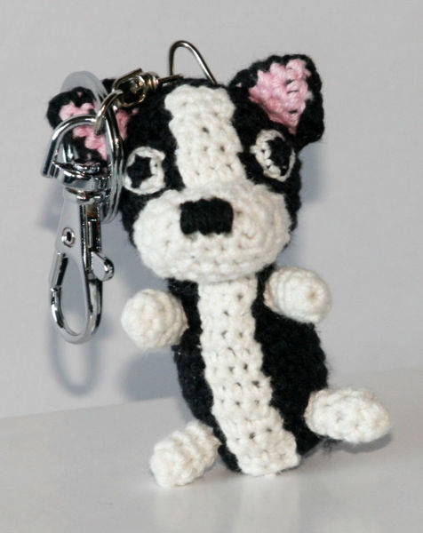 Picture of Dog Star Collectable Keychain - Boston Terrier. 2PK