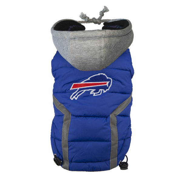 Picture of Buffalo Bills Dog Puffer Vest.
