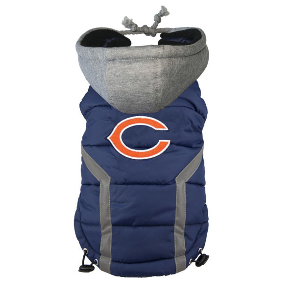 Picture of Chicago Bears Dog Puffer Vest.