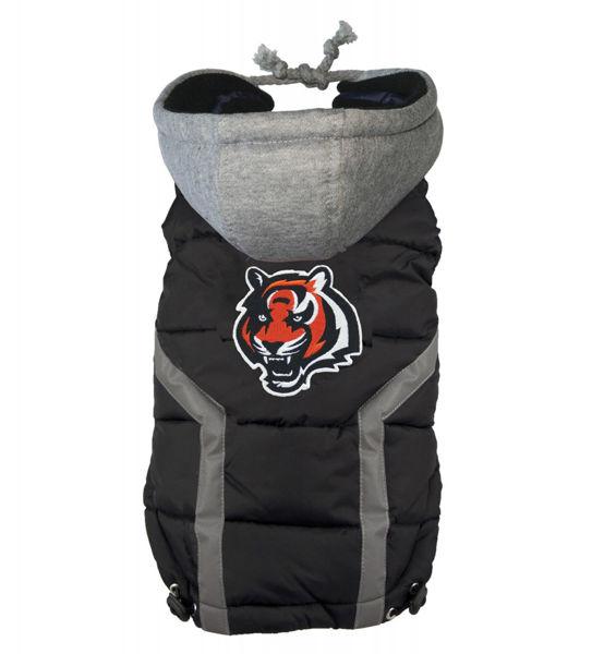 Picture of Cincinnati Bengals Dog Puffer Vest.