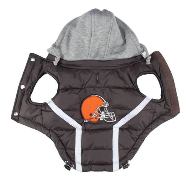 Picture of Cleveland Browns Dog Puffer Vest.