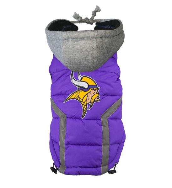Picture of Minnesota Vikings Dog Puffer Vest.