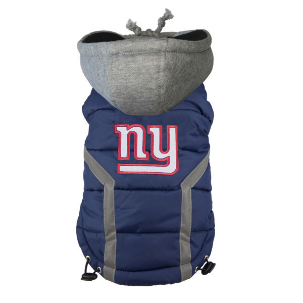 Picture of New York Giants Dog Puffer Vest.
