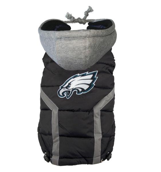 Picture of Philadelphia Eagles Dog Puffer Vest.