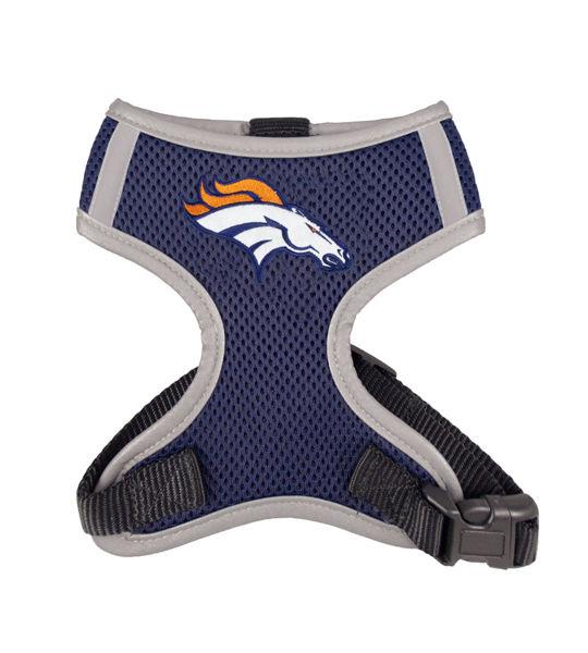 Picture of Denver Broncos Dog Harness Vest.