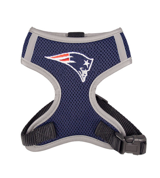 Picture of New England Patriots Dog Harness Vest.
