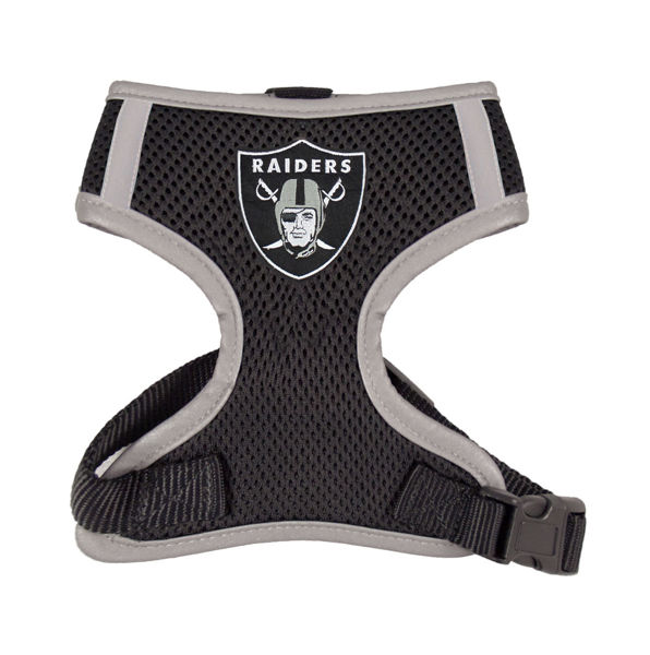 Picture of Oakland Raiders Dog Harness Vest.