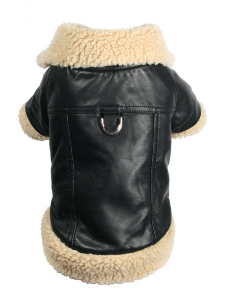 Picture of Classic Shearling Leatherette Coat.