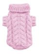 Picture of Angora Cable Knit Sweater Pink.