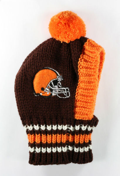 Picture of NFL Knit Pet Hat - Browns