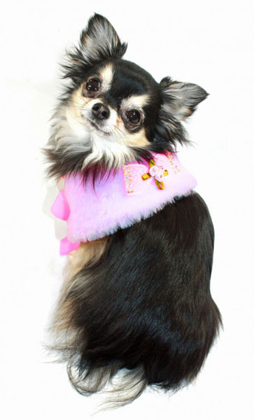 Picture of Luxurious Fur Cape - Pink