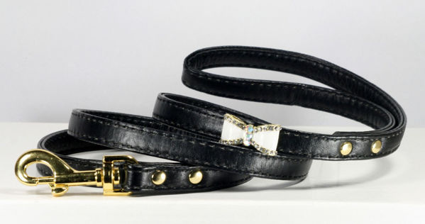 Picture of Black Bow Collar - Matching Leash