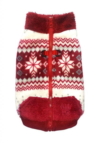 Picture of Soft Snowflake Fleece Vest - Burgundy