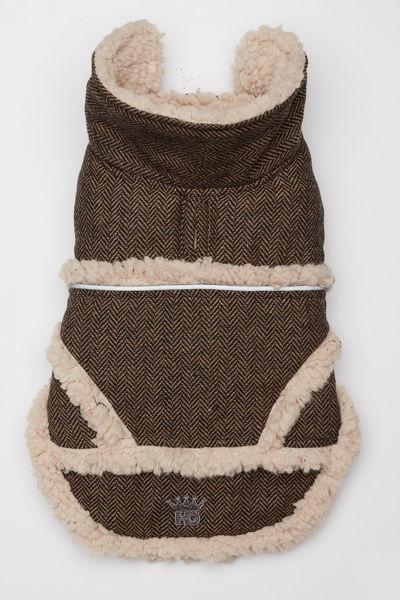 Picture of Shearling Jacket - Tan/Black Herringbone