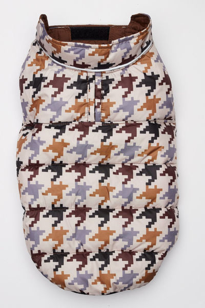 Picture of Flex-Fit Reversible Puffer Vest - Brown/Houndstooth