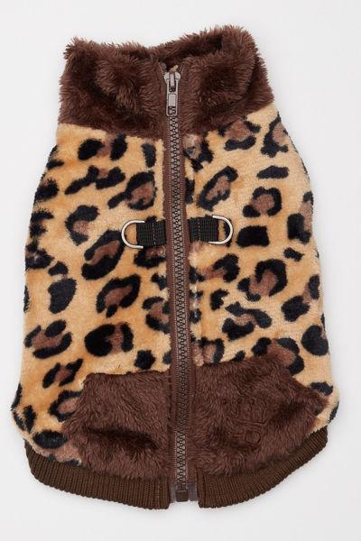 Picture of Cheetah Butter Fleece Vest - Cheetah