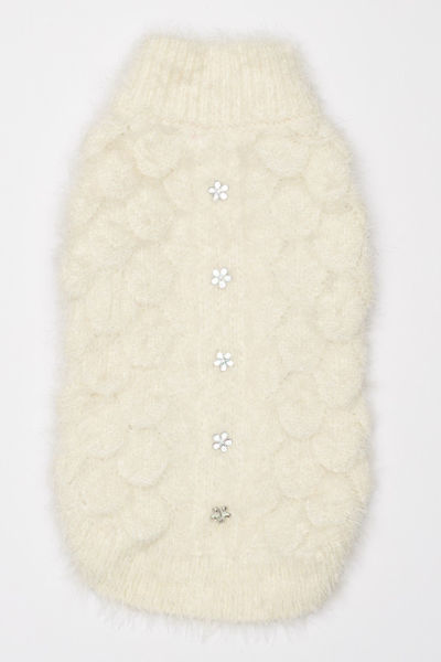 Picture of Mohair Blossom Sweater Cream