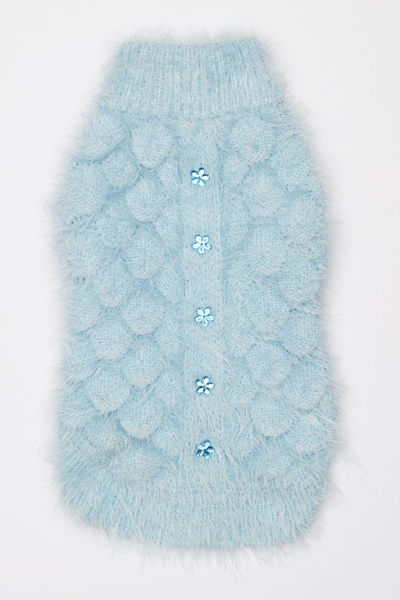 Picture of Mohair Blossom Sweater Blue