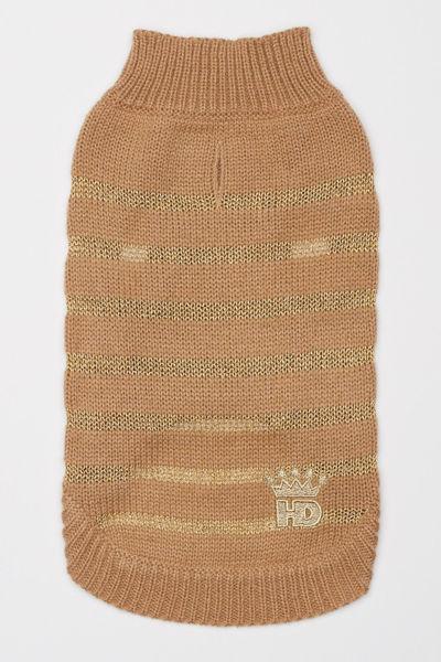 Picture of Metallic Stripe Sweater - Gold