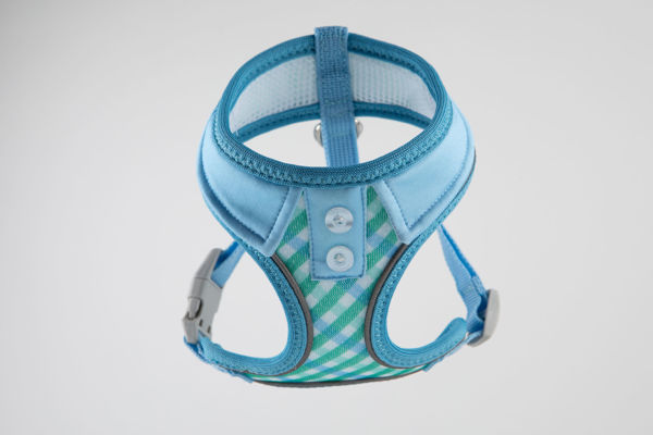 Picture of Gingham Collar Harness Vest - Blue