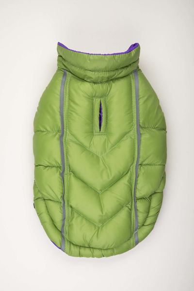 Picture of Featherlite Reversible-Reflective Puffer Vest Green/Purple