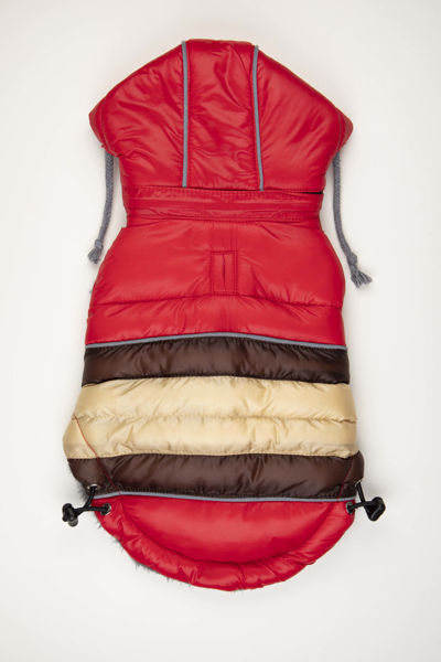 Picture of Soft Stripe Puffer Coat - RED